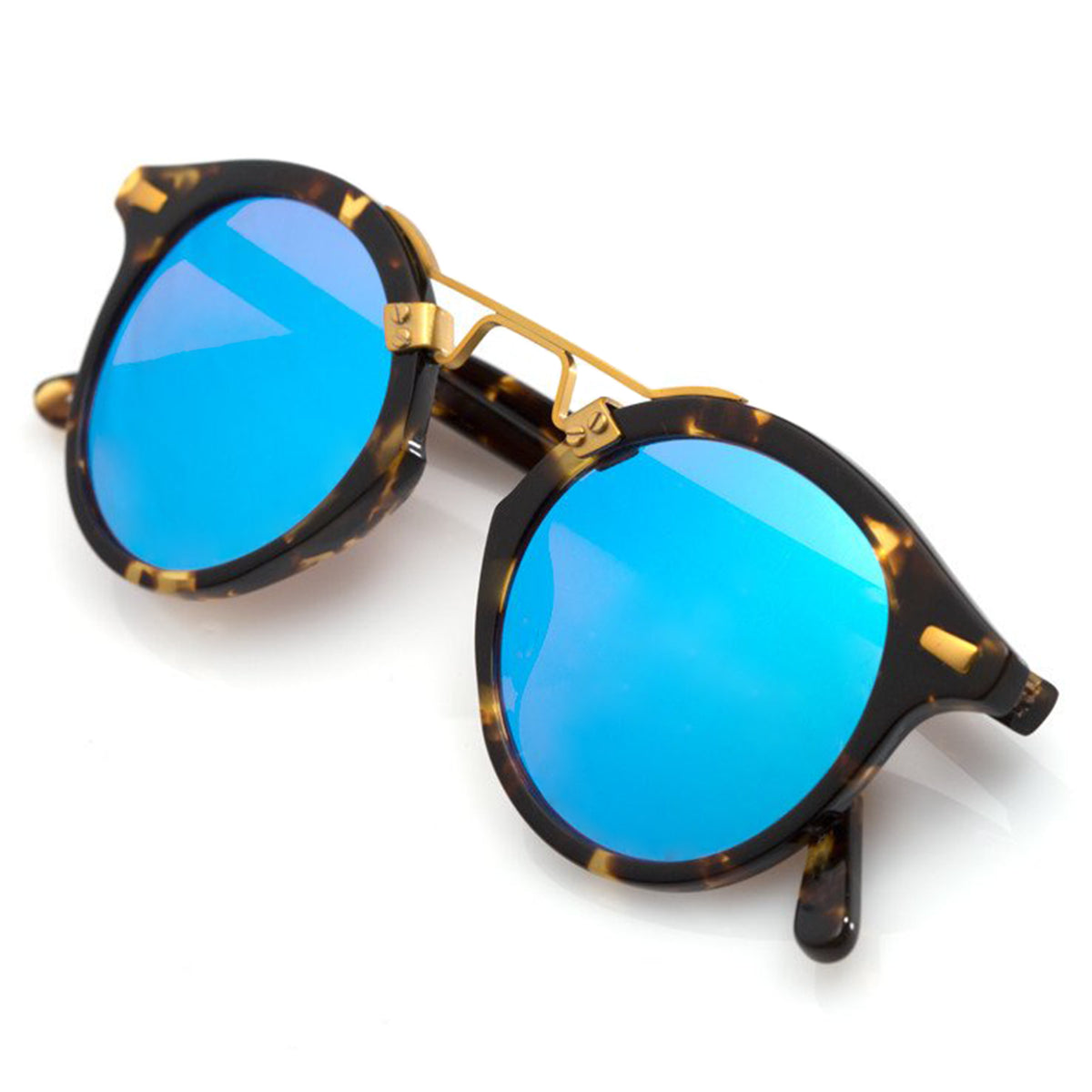 ST. LOUIS MIRRORED | Bengal Blue 24K