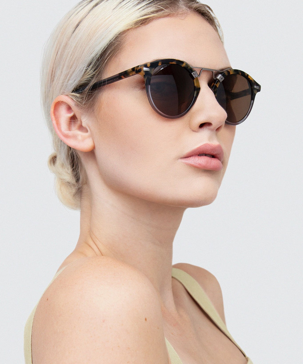 ST. LOUIS | Blonde Tortoise to Ash Polarized Handcrafted, Acetate Sunglasses
