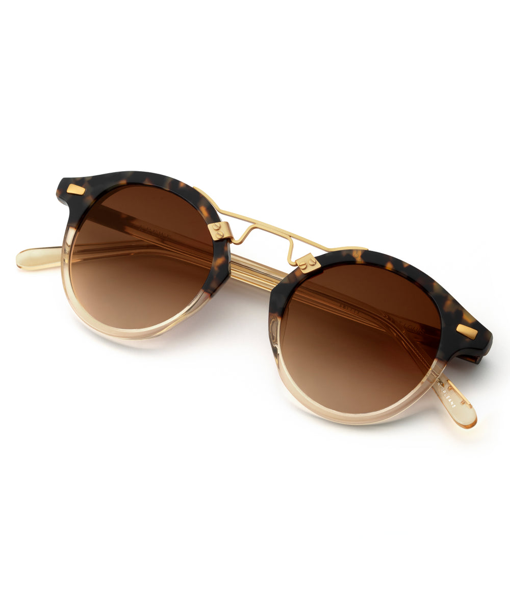 ST. LOUIS CLASSICS | Blonde Tortoise to Champagne 24K handcrafted acetate Sunglasses
