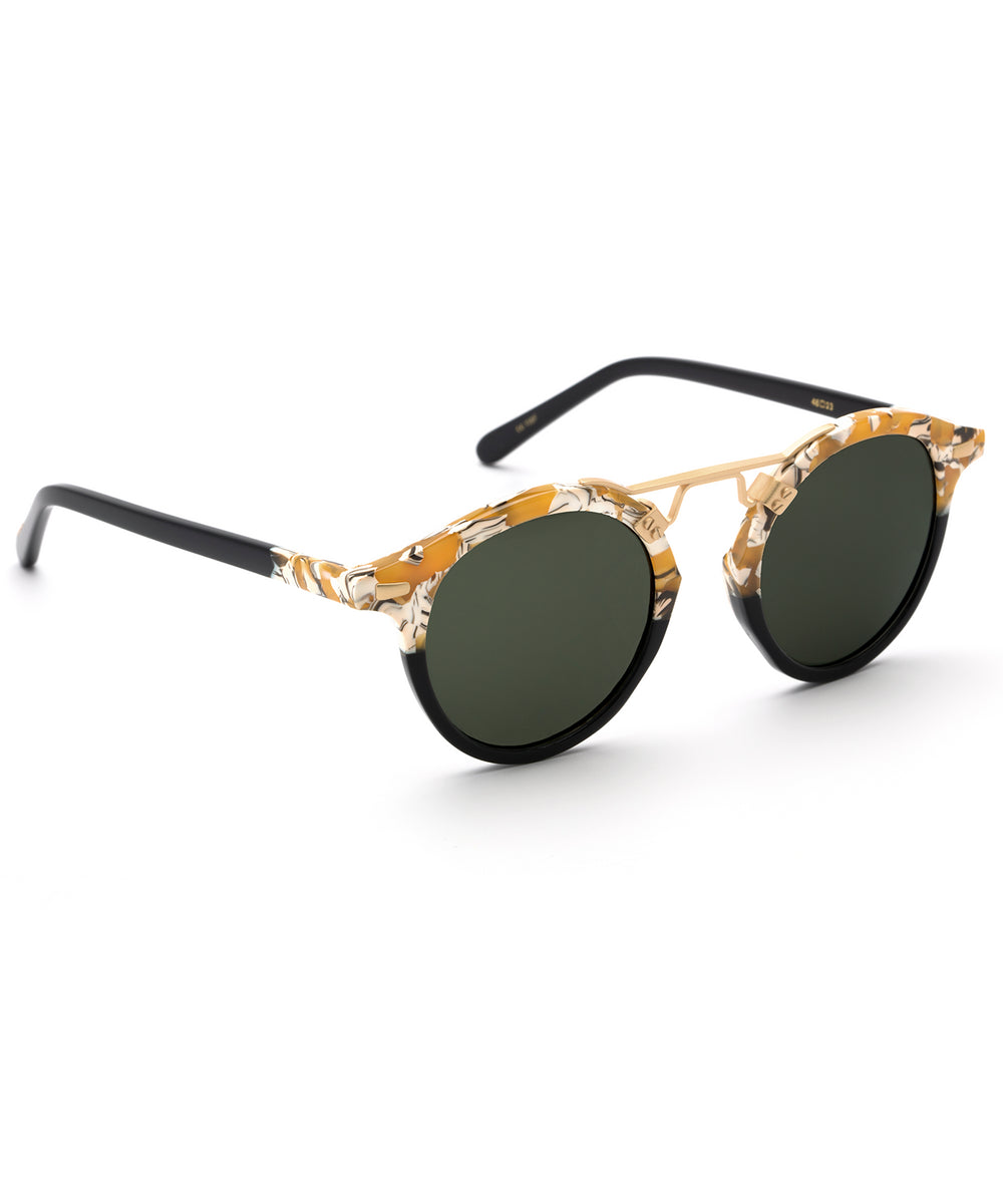 ST. LOUIS CLASSICS | Butterscotch to Black 24K Handcrafted, Acetate Sunglasses