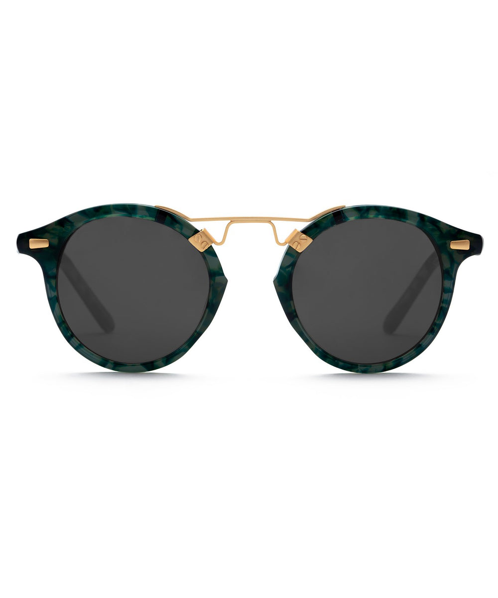 ST. LOUIS | Grey Ivy 24K Handcrafted, Acetate Sunglasses