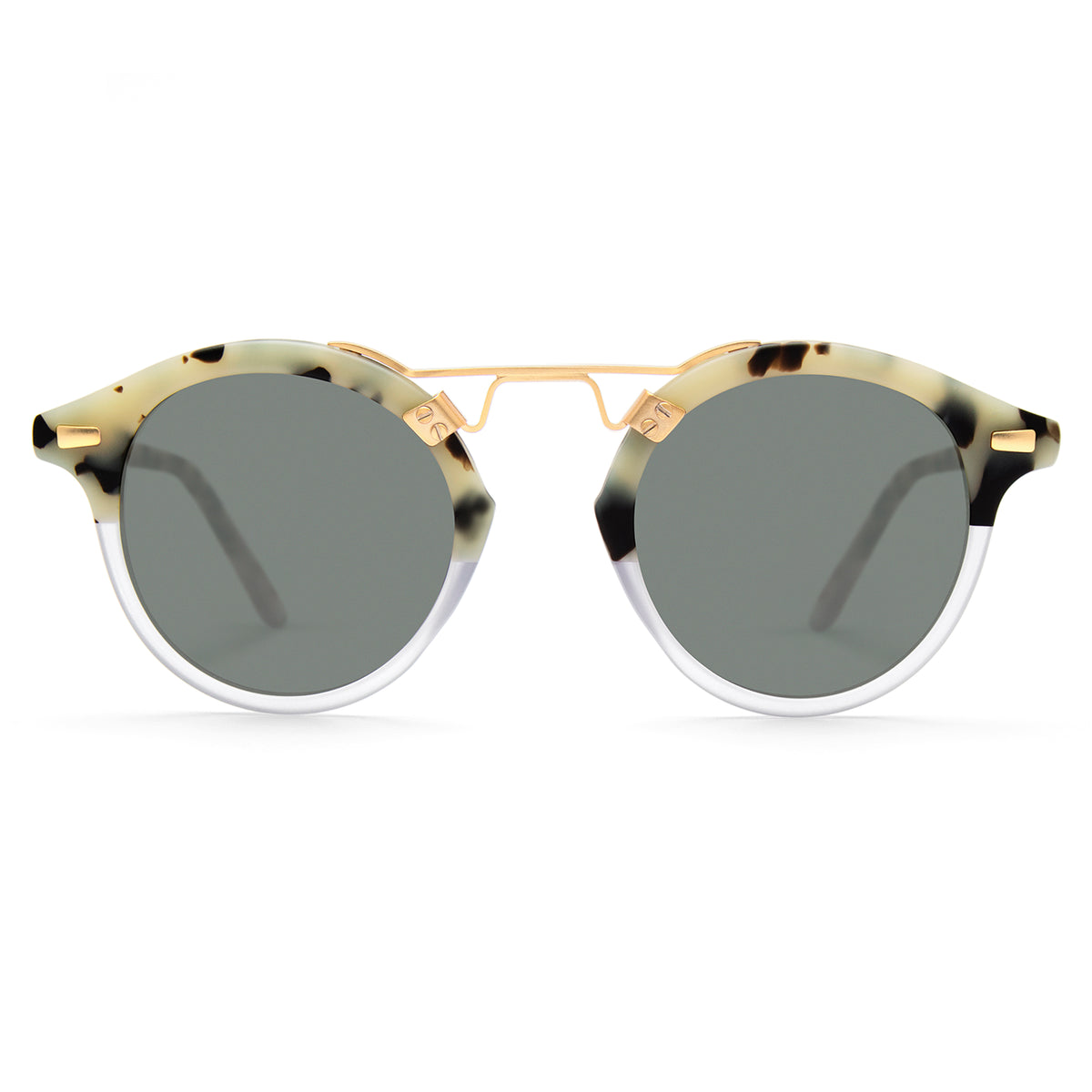 ST. LOUIS CLASSICS | Matte Au Lait to Clear handcrafted acetate Sunglasses