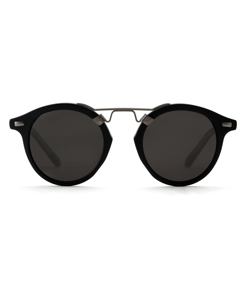 ST. LOUIS | Matte Black - handcrafted acetate eyewear