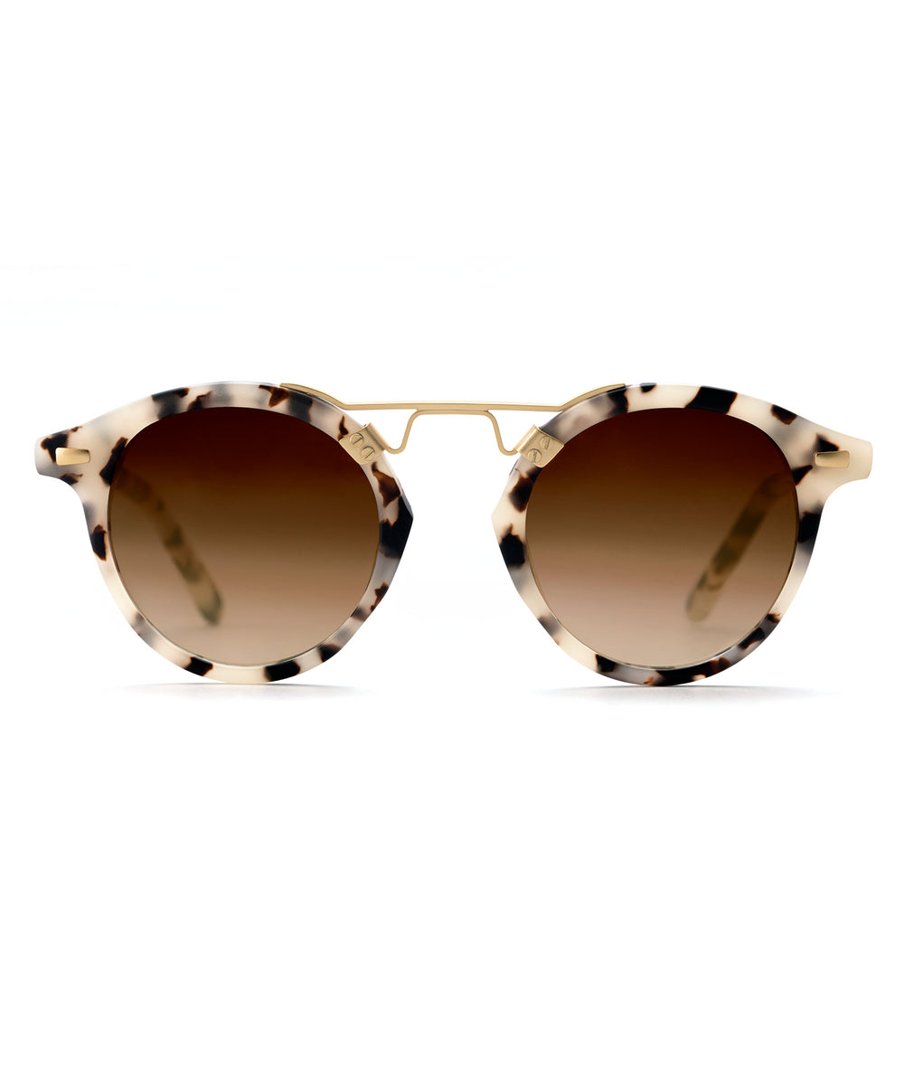 ST. LOUIS | Matte Oyster 24K handcrafted acetate sunglasses