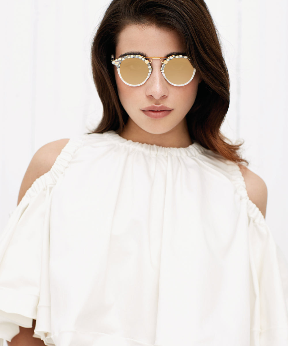 ST. LOUIS MIRRORED | Stella to Magnolia 24K handcrafted acetate Sunglasses | Womens | Featured Model