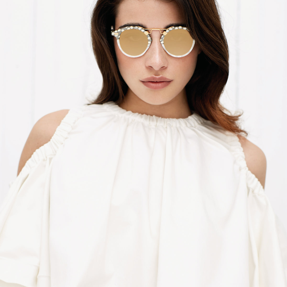 ST. LOUIS MIRRORED | Stella to Magnolia 24K handcrafted acetate Sunglasses | Womens