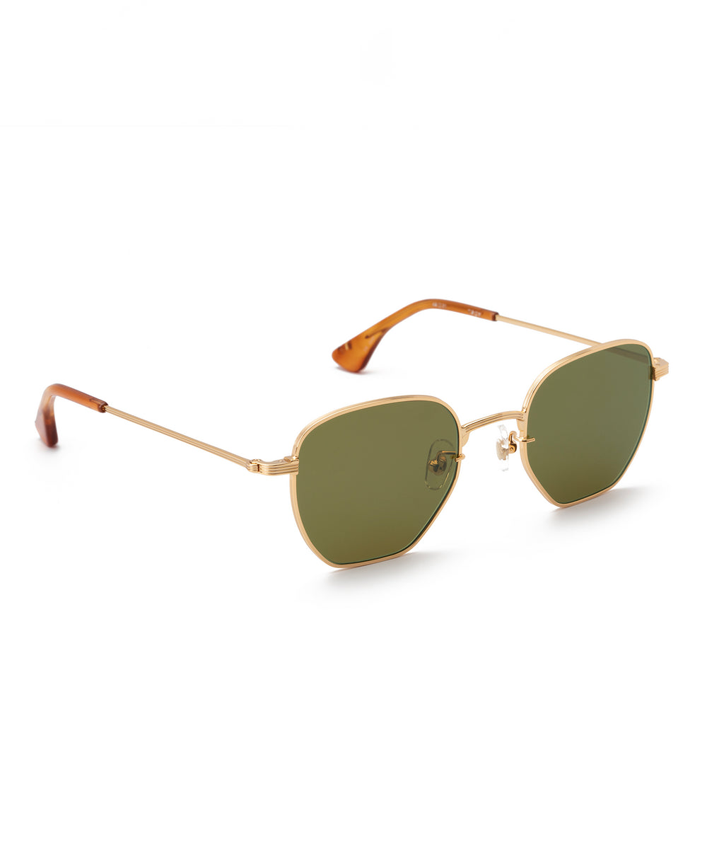 TROY | 18K + Tobacco Handcrafted, Titanium Sunglasses