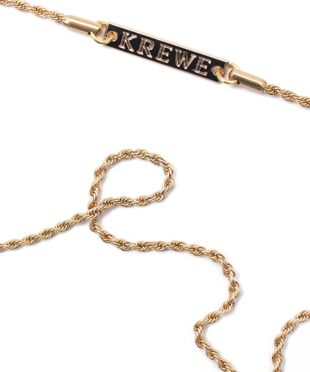 KREWE BRAIDED FRAME CHAIN | 24K