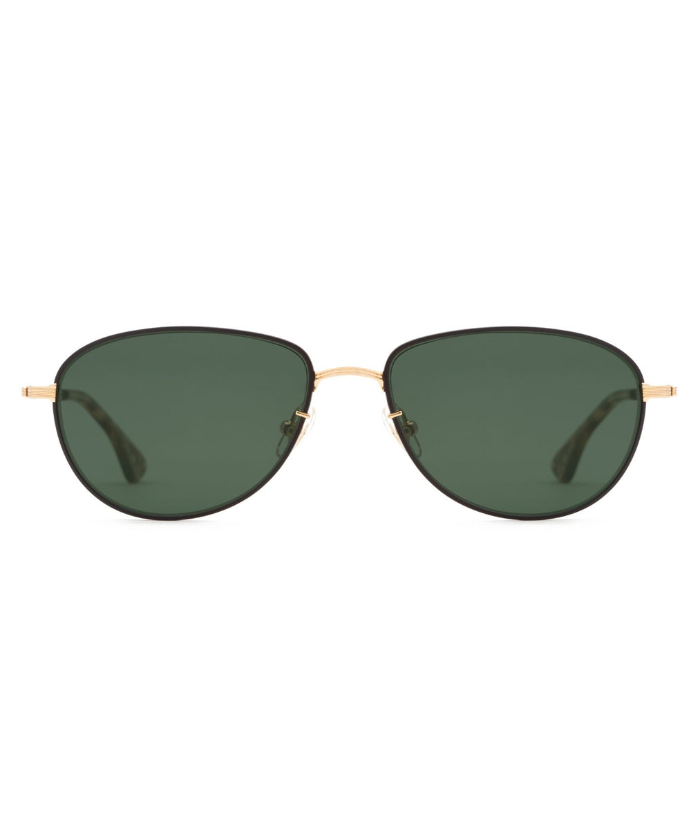 VERNON | 24K to Matte Black + Bengal Polarized Handcrafted, stainless steel sunglasses