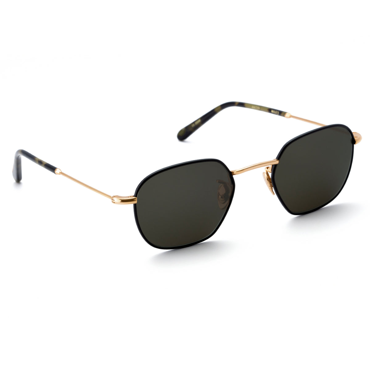WARD | Tortuga + Matte Black to 24K Titanium handcrafted acetate sunglasses