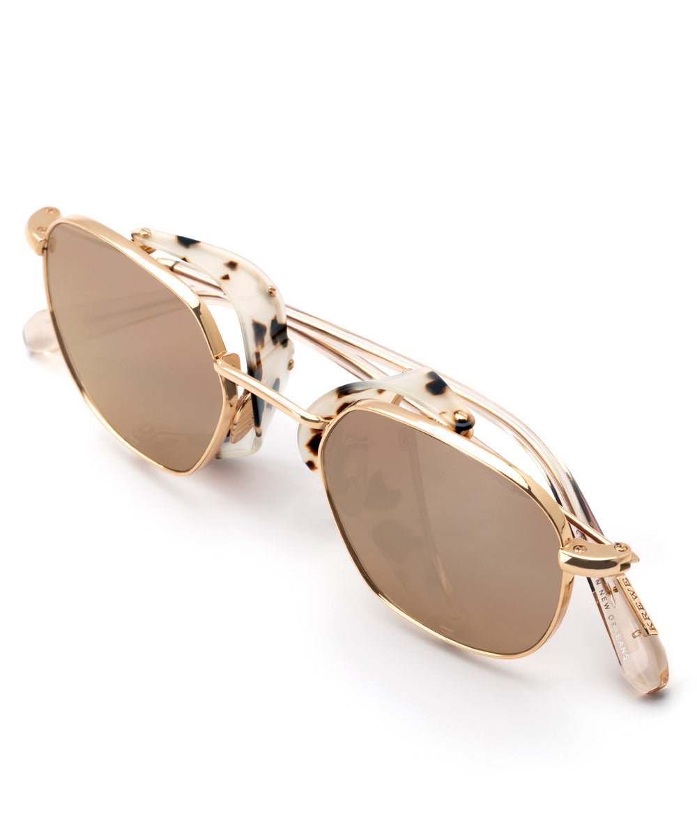 WARD BLINKER | 24K Titanium + Oyster handcrafted acetate sunglasses