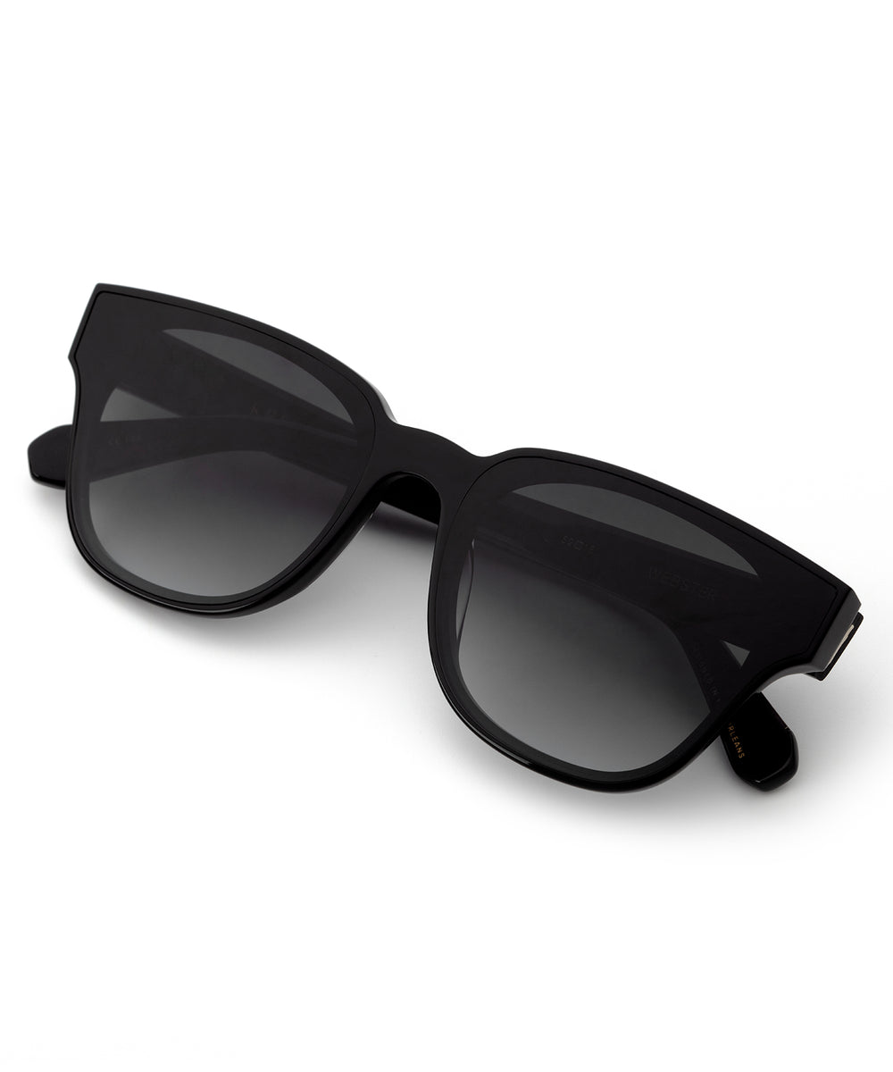 WEBSTER NYLON | Black + Shadow Handcrafted, Acetate Sunglasses