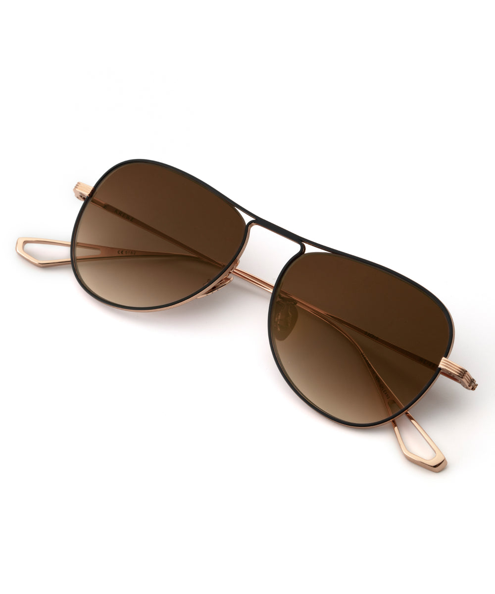 WEISS | Rose Gold + Matte Black Titanium Handcrafted, Titanium Sunglasses
