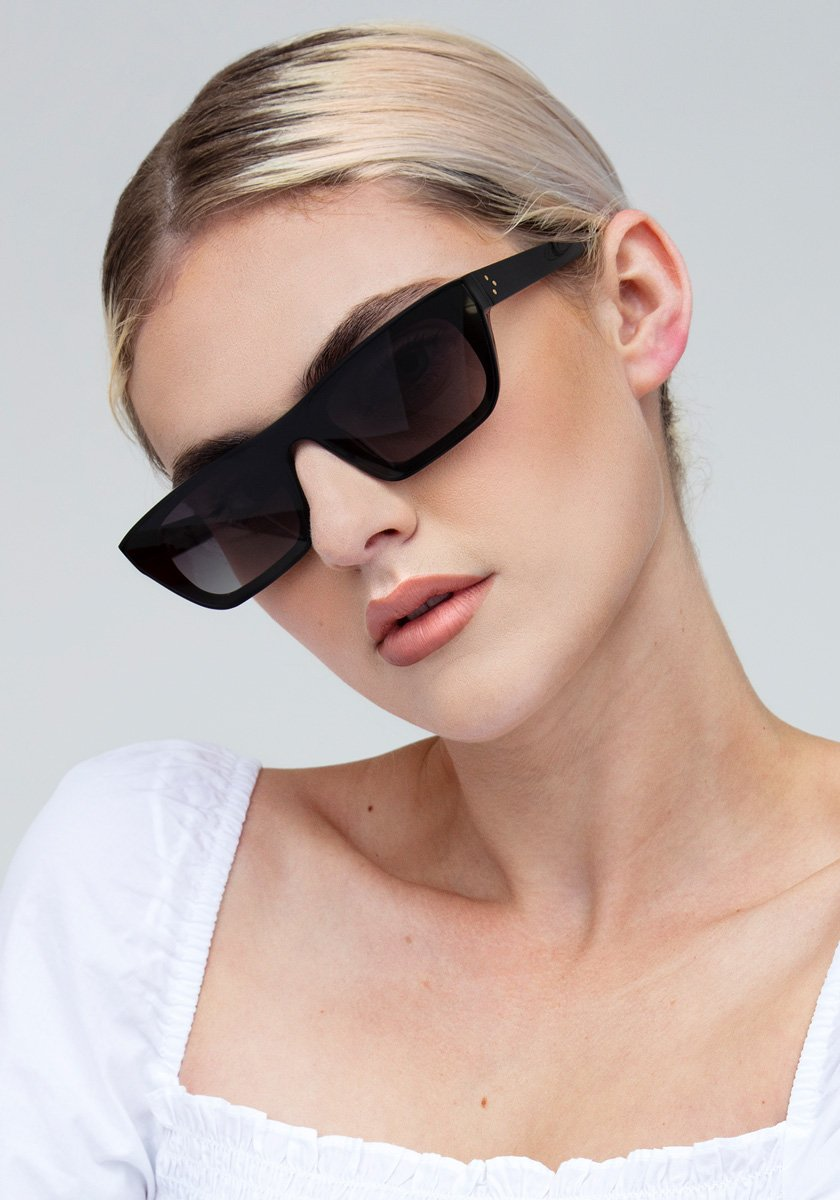 WISNER NYLON | Black to Black and Crystal Handcrafted, Acetate Sunglasses  | Featured Model | Womens