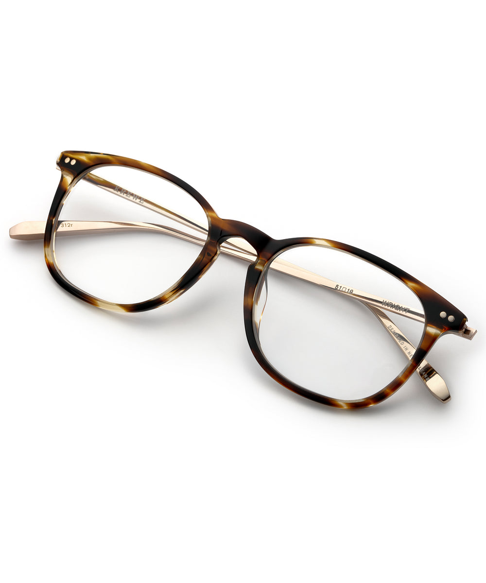 WRIGHT | Oak + 12K Titanium Handcrafted, Acetate Frames
