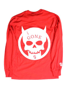 Devils Skull long tee Red - GONE