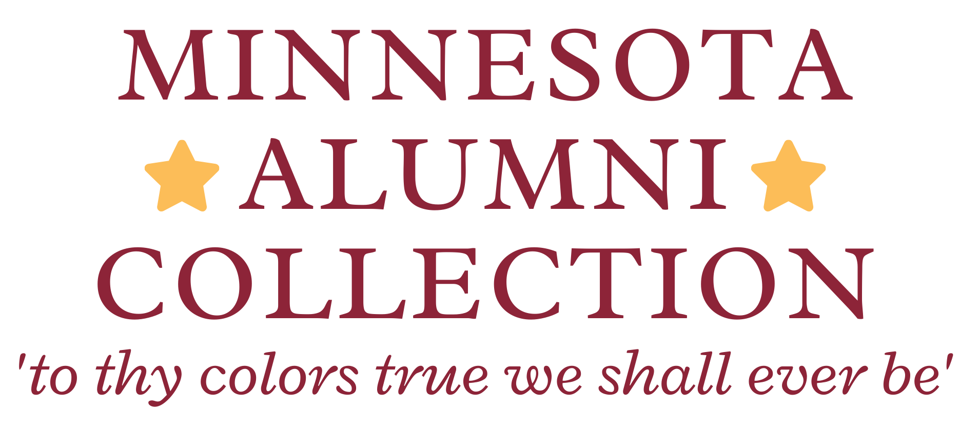 Minnesota Alumni Collection with gold stars