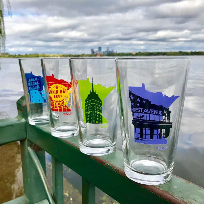 Minneapolis Landmark Pint Glass Set