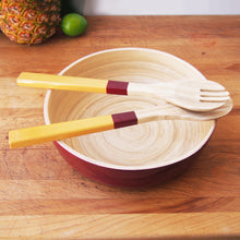 Maroon and Gold Salad Set