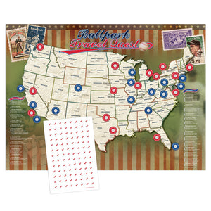 Ballpark Travel Quest Map