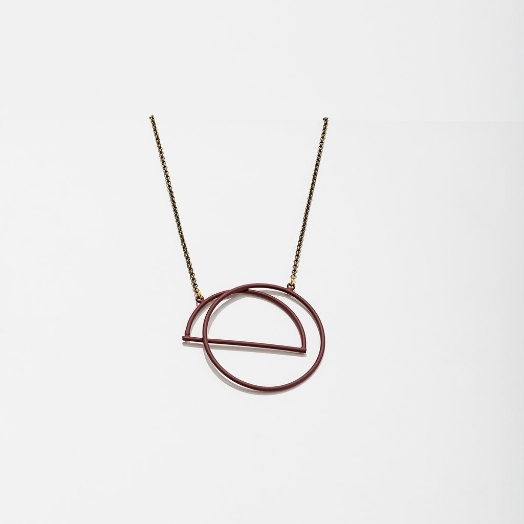 Charade Necklace - Maroon