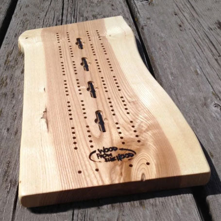Cribbage Board of reclaimed wood