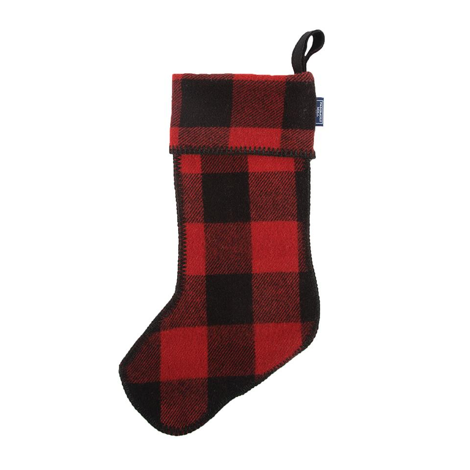 Faribault Woolen Mill Buffalo Plaid Stocking