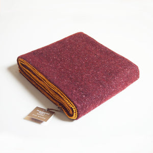 Maroon and Gold Classic Wool Throw