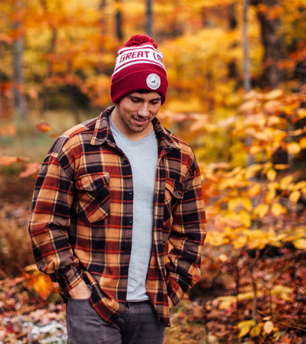 Great Lakes Maroon Knit Cap