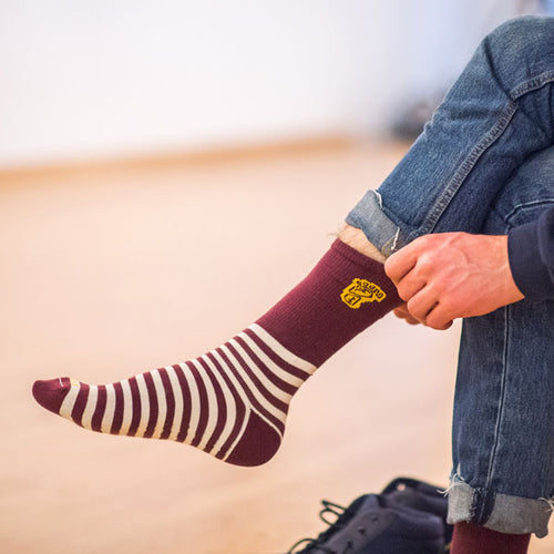Hippy Feet Striped Gopher Socks