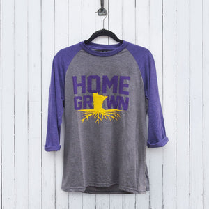 Home Grown Purple and Gold Long Sleeve T-Shirt
