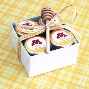 """M"" Honey Set with Honey Dipper"