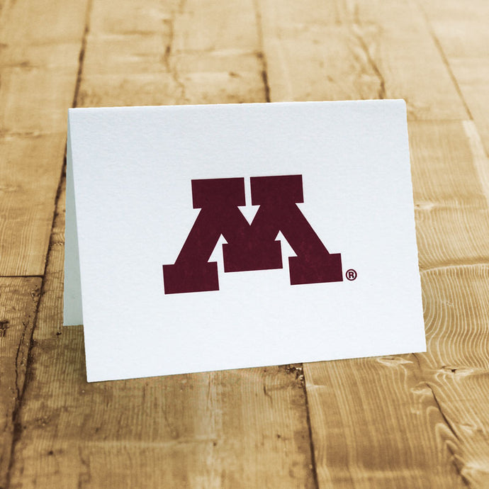 U of M Letter Press Note Cards
