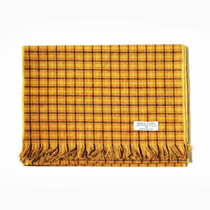 Vintage Gold Plaid Scarf