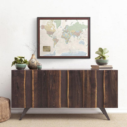 World Traveler Map - Personalized