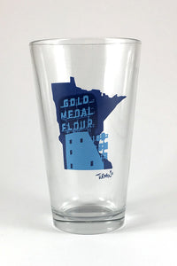 Gold Medal Flour Pint Glass