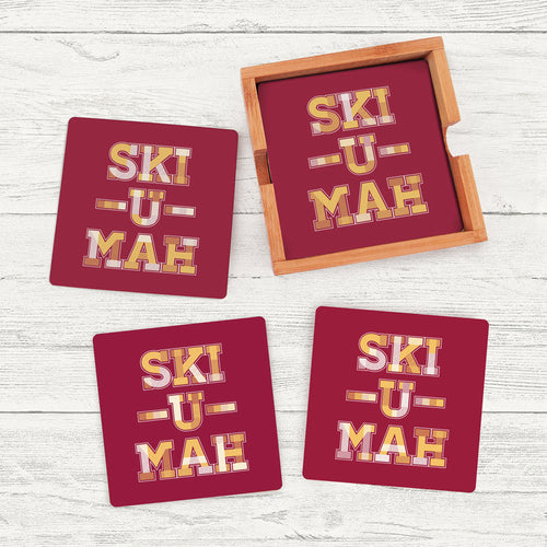 Ski-U-Mah Coaster Set