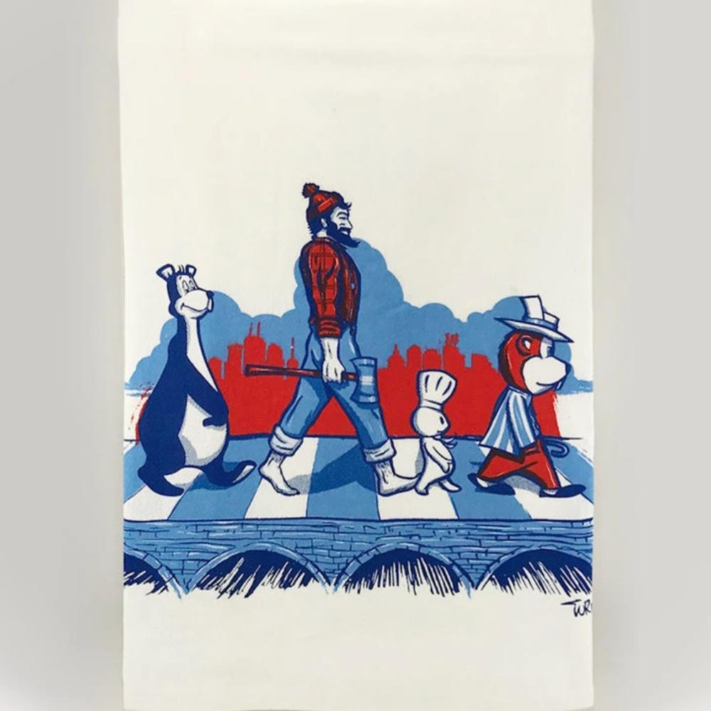 Adam Turman 'MN Abbey Road' Tea Towel