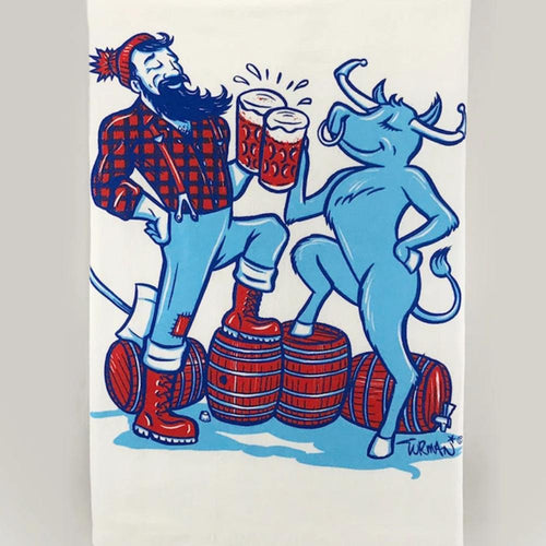 Adam Turman 'Paul & Babe' Tea Towel