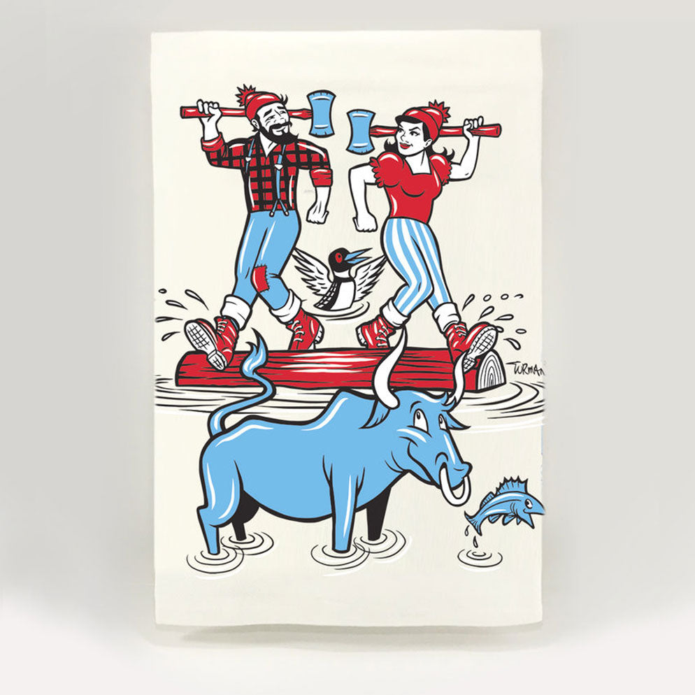 Paul and Lucette Tea Towel