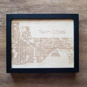 Wood Road Map of the Twin Cities