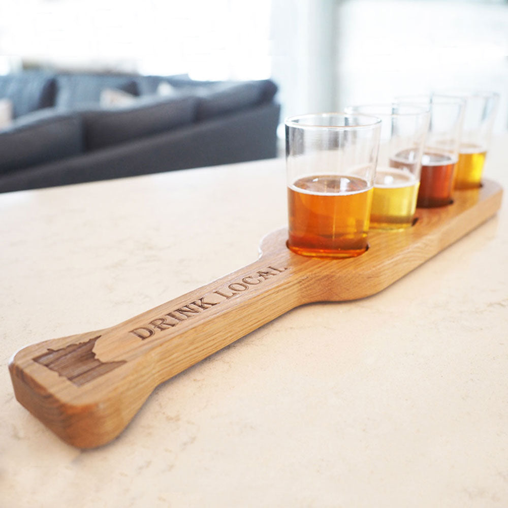 Flight Paddle of reclaimed wood