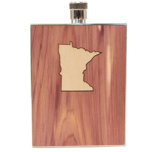 MN State Inlay Flask