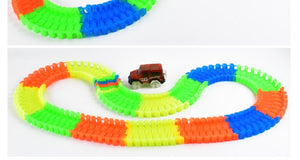 Gadget Christmas Glowing Race Track Set with Led Car - Great GIFT For Children!