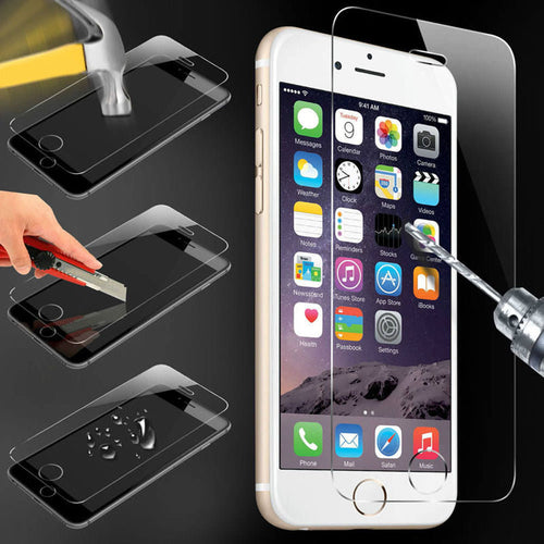 Screen Protecter Tempered glass For ALL iPhones including cleaning kit