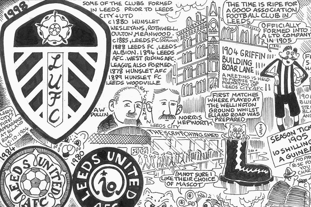 Leeds United Football Cartoon Histories