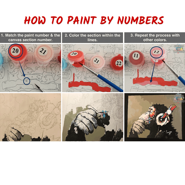 Paint by Numbers Steps