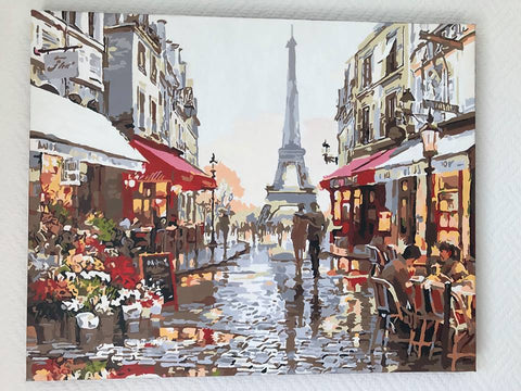 Paris after fresh rain canvas by numbers
