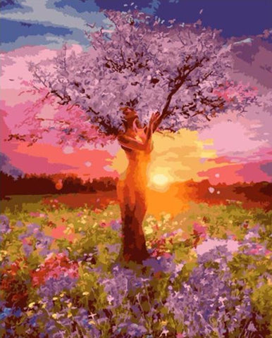 Paint by numbers kits - Mother nature tree of life