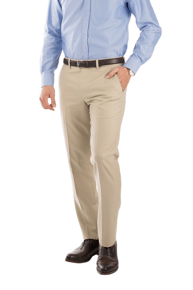 Cream Trousers With Red Line